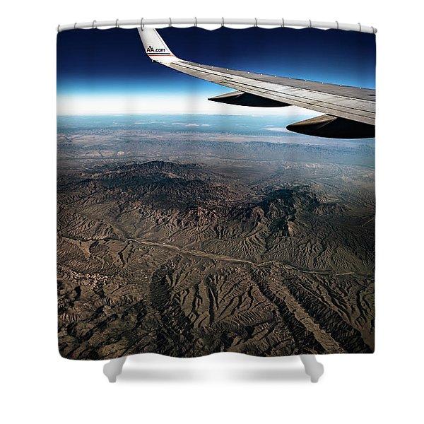 High Desert From High Above Shower Curtain