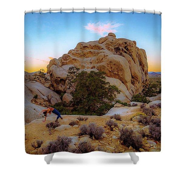 High Desert Pose Shower Curtain