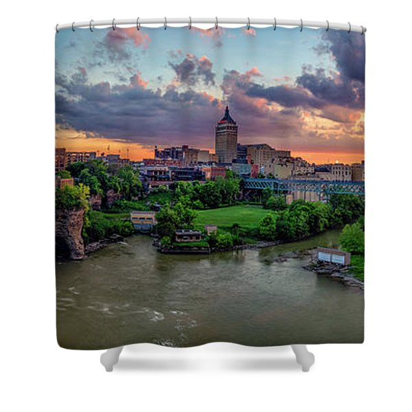 High Falls Panorama Shower Curtain