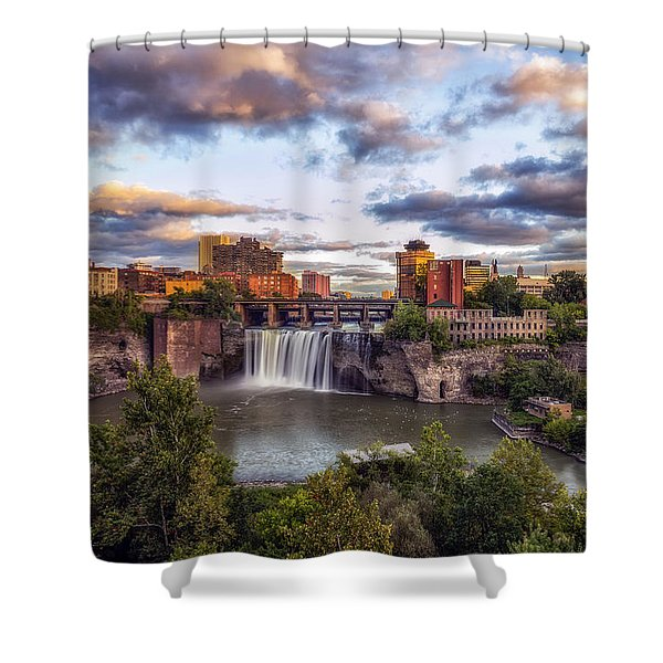 High Falls Rochester Shower Curtain