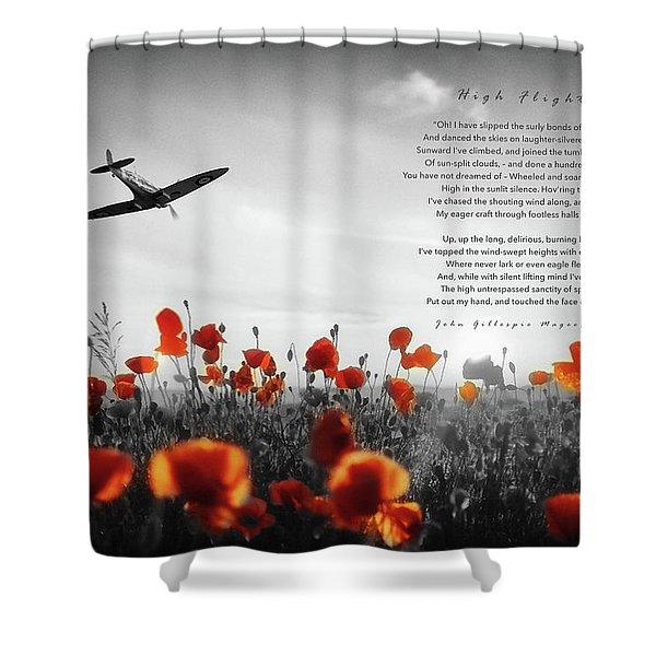 High Flight Shower Curtain