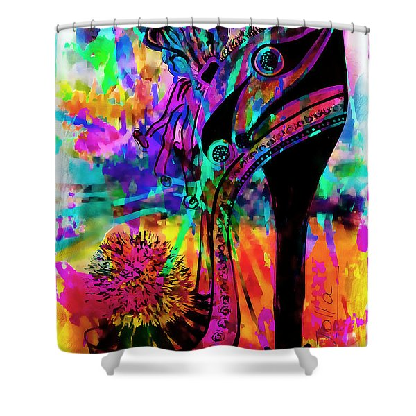 High Heel Heaven Abstract Shower Curtain
