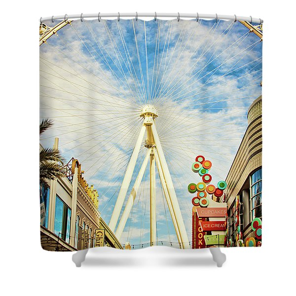 High Roller Wheel, Las Vegas Shower Curtain