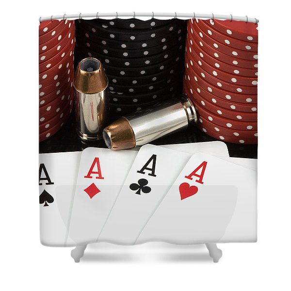 High Stakes Poker Shower Curtain