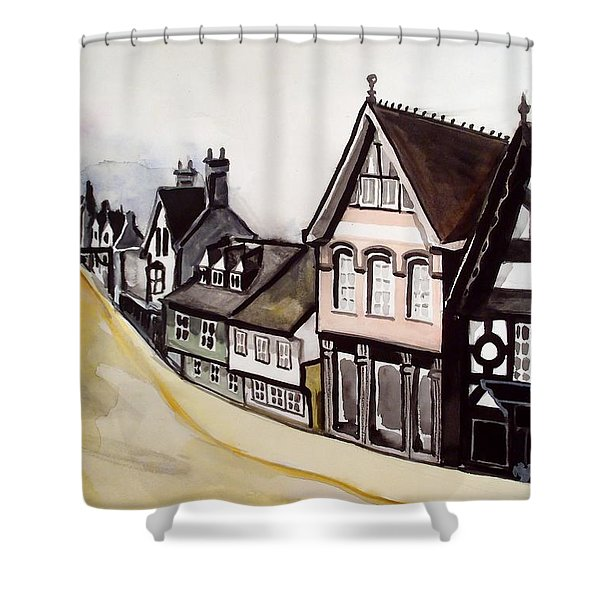 High Street Of Stamford In England Shower Curtain