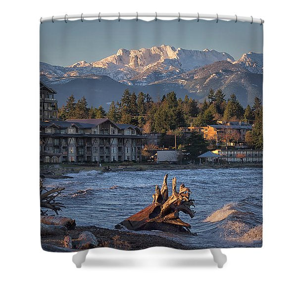 Shower Curtain featuring the photograph High Tide In The Bay by Randy Hall