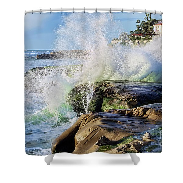 High Tide On The Rocks Shower Curtain