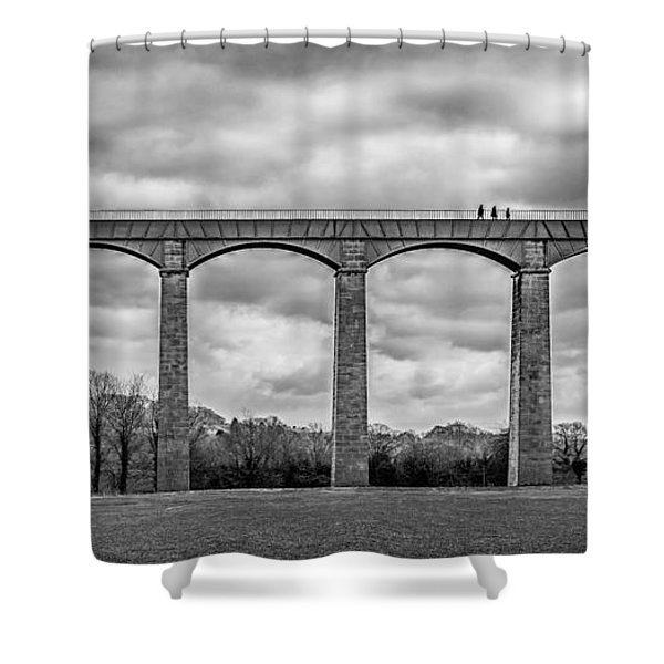 Shower Curtain featuring the photograph Sky Walkers by Nick Bywater