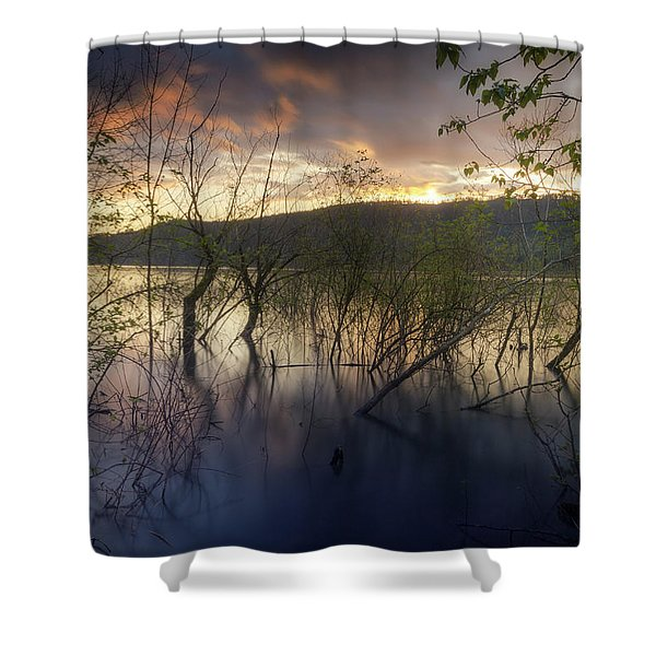 High Water Sunset Shower Curtain