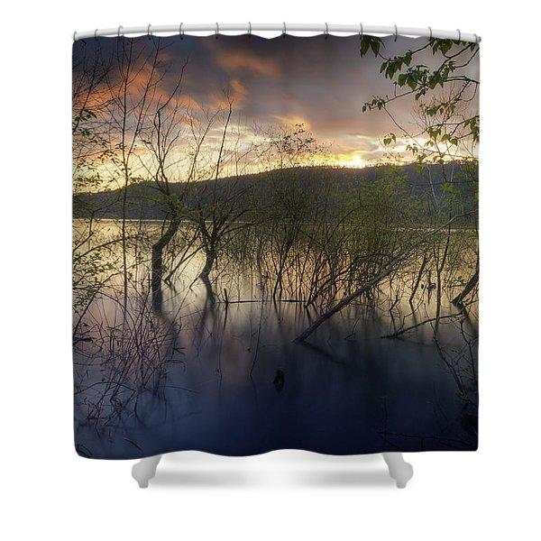 High Water Sunset Shower Curtain