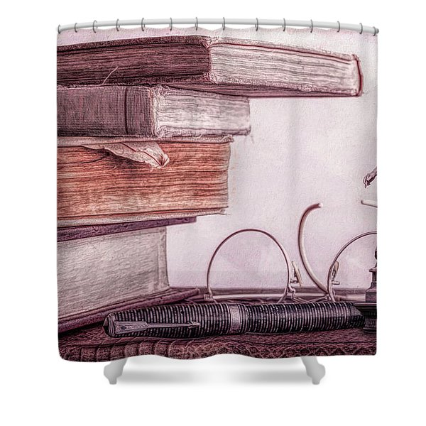 Higher Learning Shower Curtain