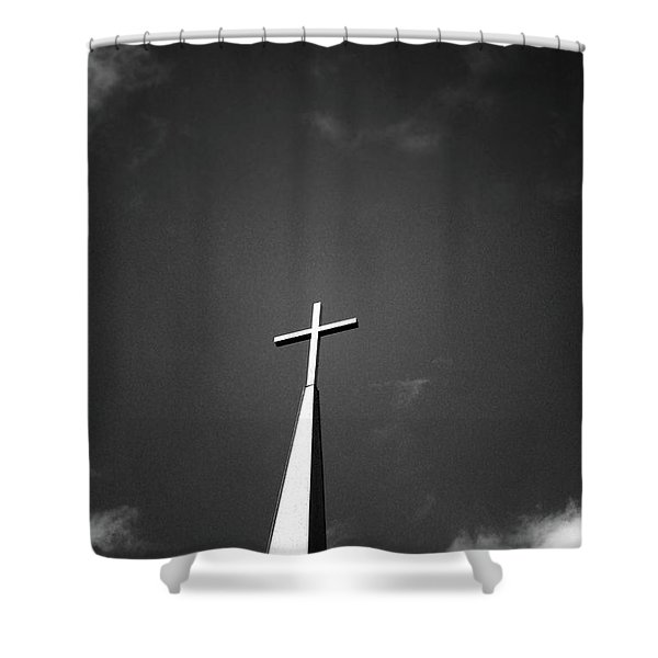 Higher To Heaven - Black And White Photography By Linda Woods Shower Curtain