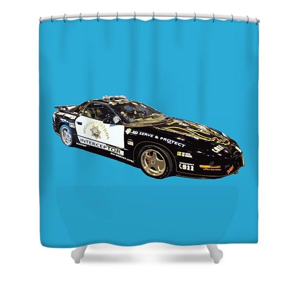 Highway Interceptor Art Shower Curtain