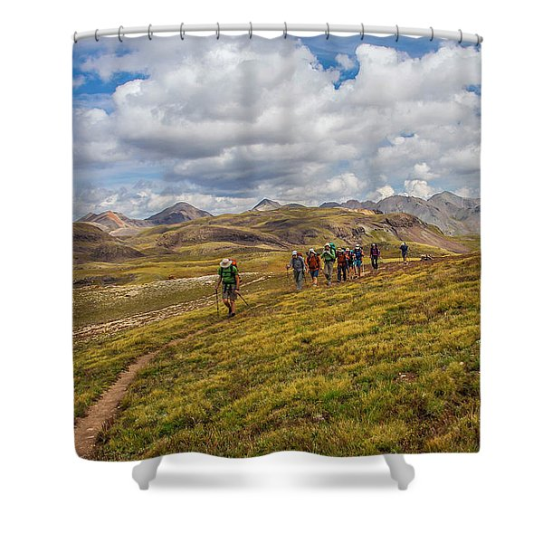 Hiking At 13,000 Feet Shower Curtain