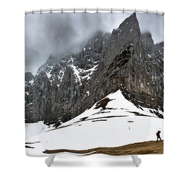 Hiking In The Alps Shower Curtain