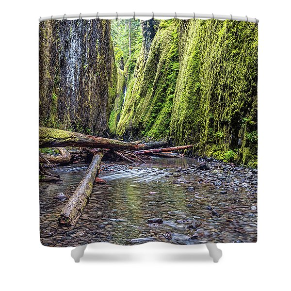 Hiking Oneonta Gorge Shower Curtain