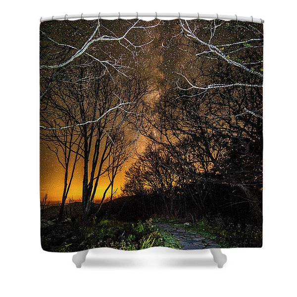 Hiking The Milky Way Shower Curtain