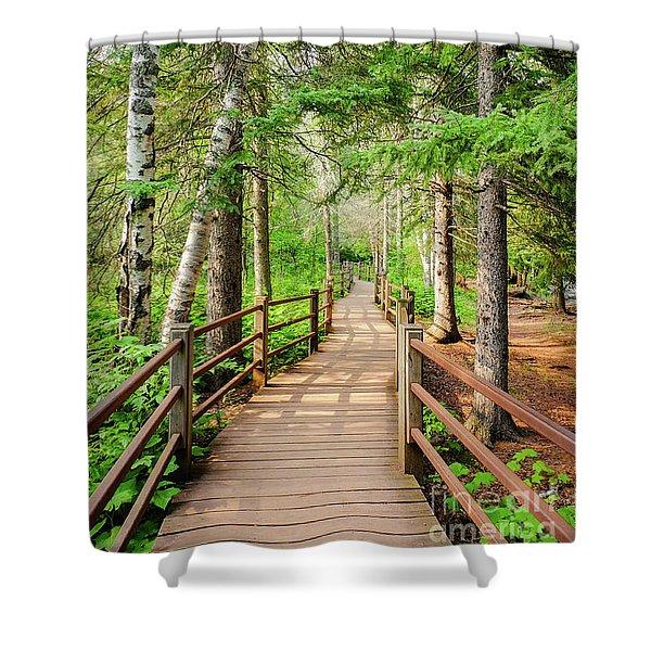 Hiking Trail Shower Curtain