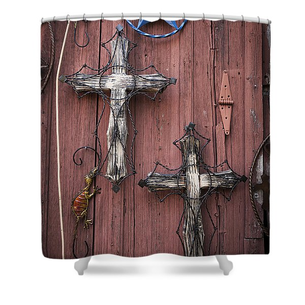 Hill Country Crosses Shower Curtain