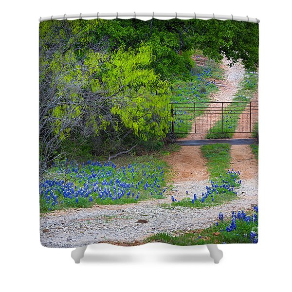 Hill Country Road Shower Curtain