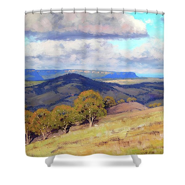 Hill Shadows Kanimbla  Shower Curtain