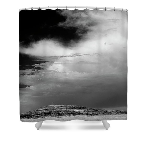 Hill Top Cross Shower Curtain