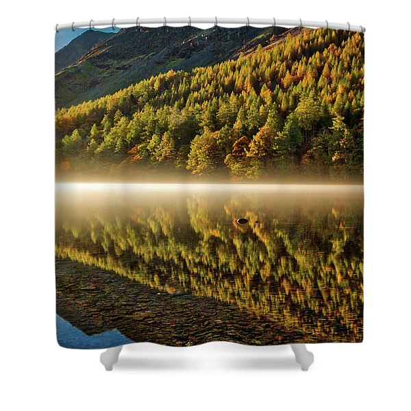 Hills In The Mist Shower Curtain