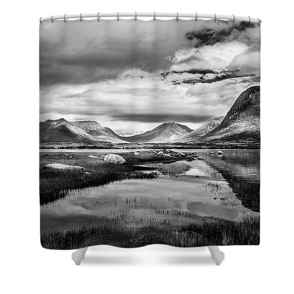 Hills Of Vesteralen Shower Curtain