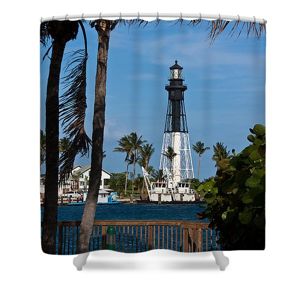 Hillsboro Inlet Lighthouse And Park Shower Curtain