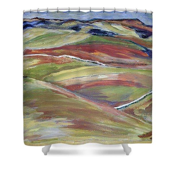 Northern Hills, Clare Island Shower Curtain