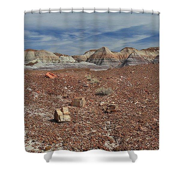Hillside Hues Shower Curtain