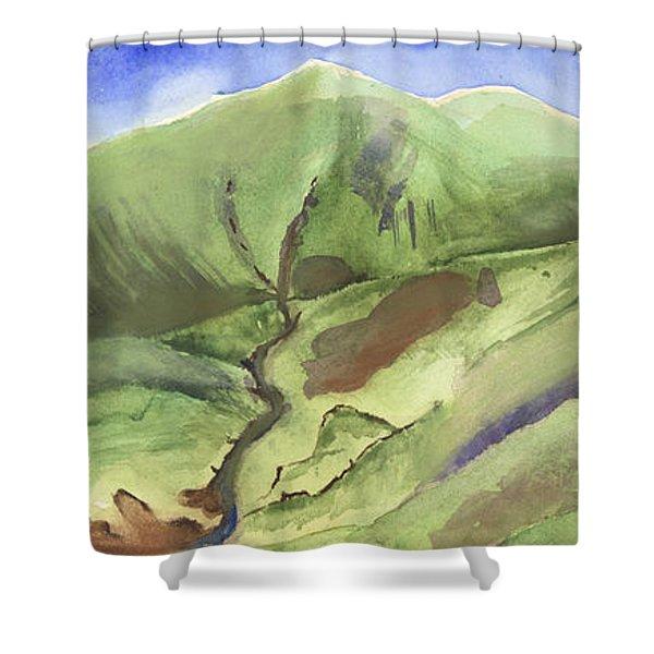 Hillside Panorama Shower Curtain