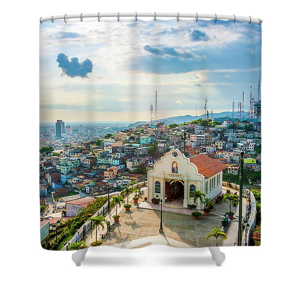 Hilltop Church Shower Curtain