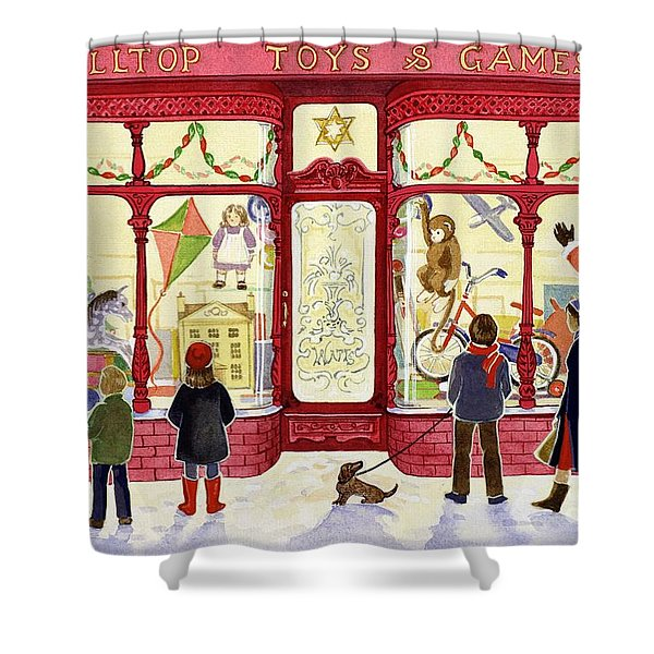 Hilltop Toys And Games Shower Curtain