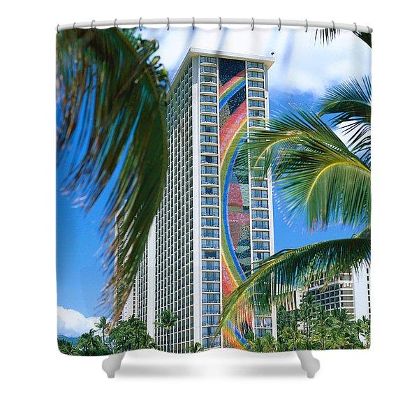 Hilton Rainbow Tower Shower Curtain