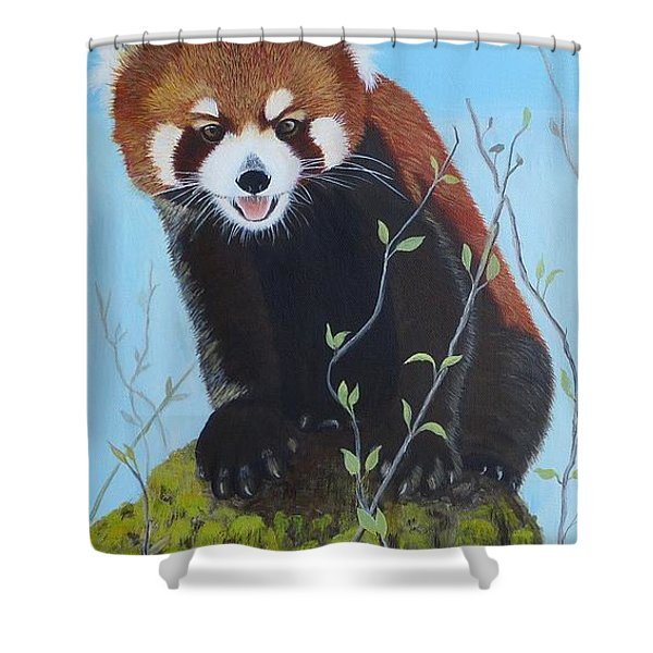 Himalayan Red Panda Shower Curtain