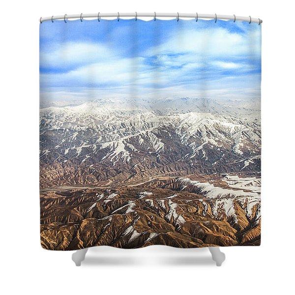 Hindu Kush Snowy Peaks Shower Curtain