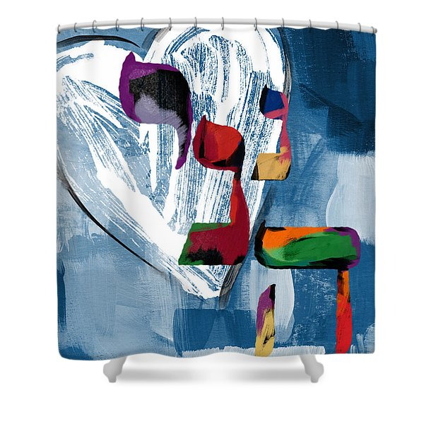 Hineni Heart- Art By Linda Woods Shower Curtain