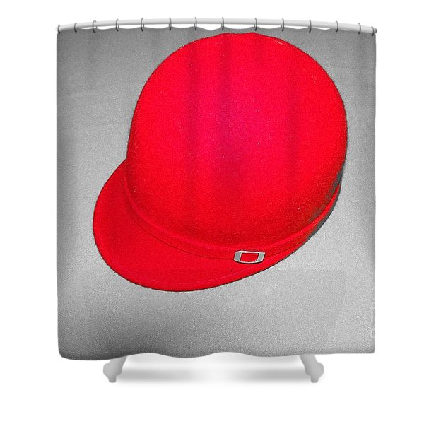 Hints Of Red - Hat Shower Curtain
