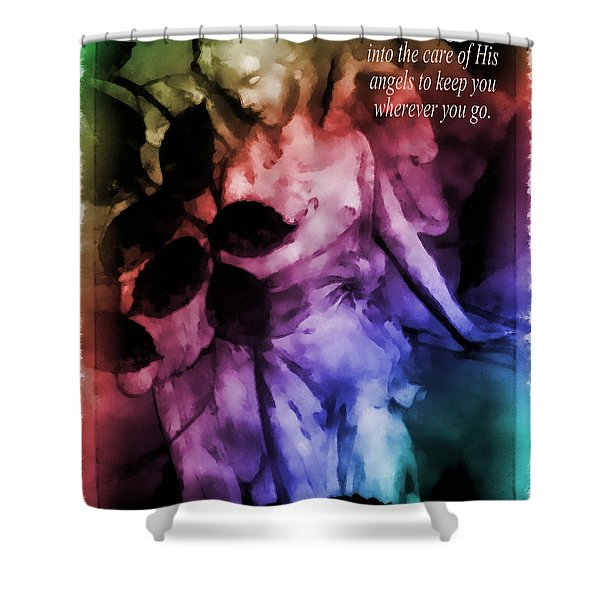 His Angels 2 Shower Curtain