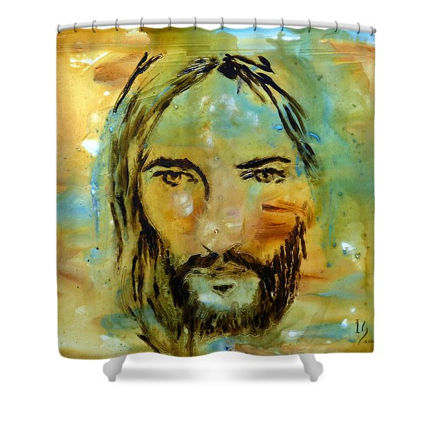 His Face Shower Curtain