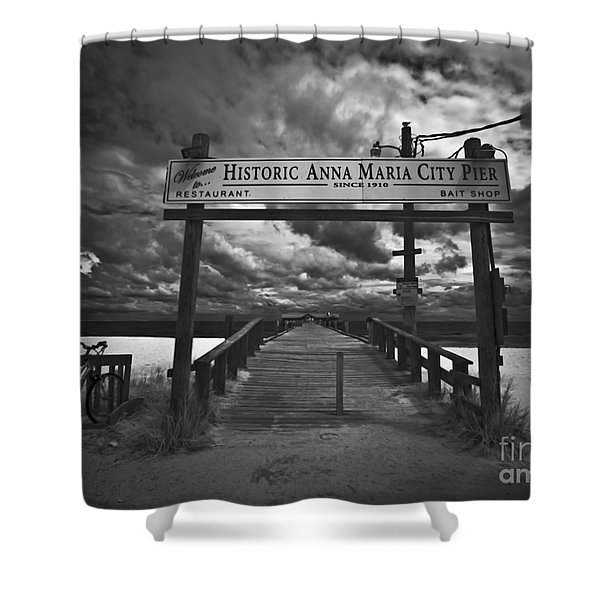 Historic Anna Maria City Pier 9177436 Shower Curtain
