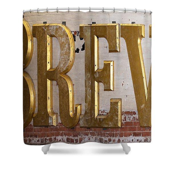 A Golden Brew Shower Curtain
