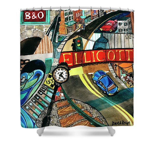 Historic Ellicott City Steam And Stone Shower Curtain