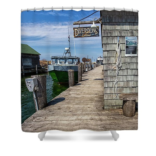 Shower Curtain featuring the photograph Historic Fishtown 12 by Heather Kenward