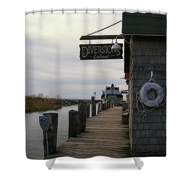 Shower Curtain featuring the photograph Historic Fishtown 5 by Heather Kenward
