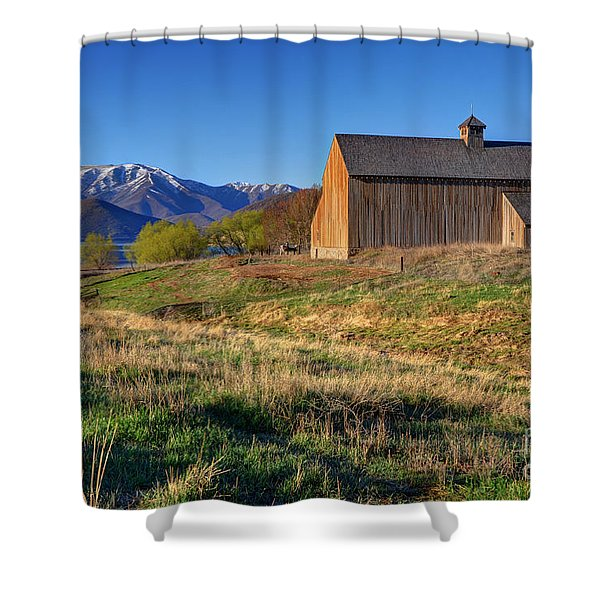 Historic Francis Tate Barn - Wasatch Mountains Shower Curtain