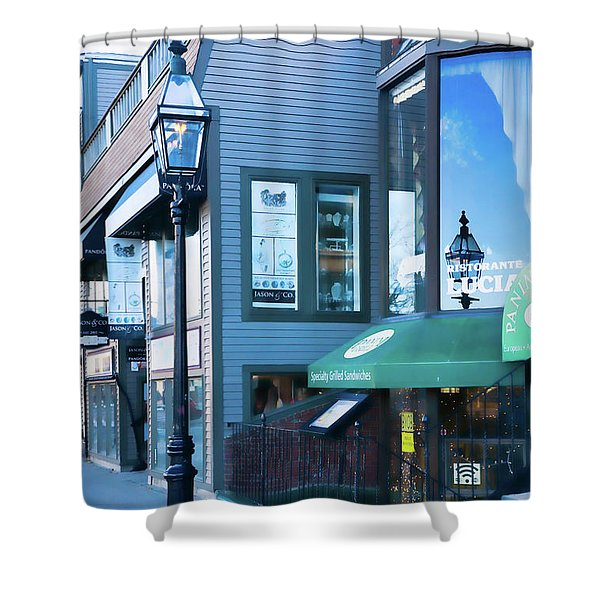 Historic Newport Buildings Shower Curtain
