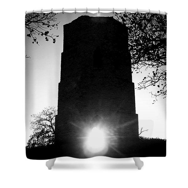 Historical Water Tower At Sunset Shower Curtain