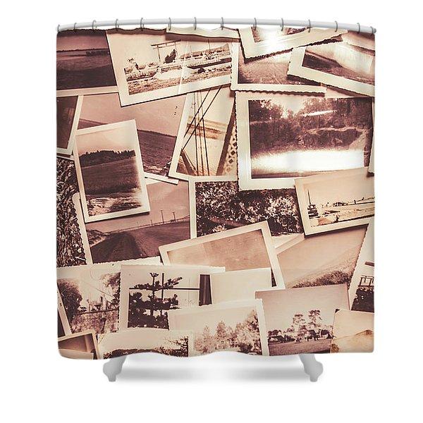 History In Still Photographs Shower Curtain